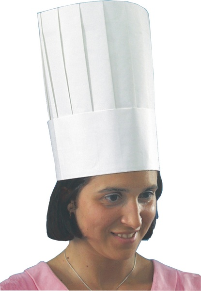 Cappello da Chef Monouso in Carta 30 Cm